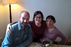 Con Elena Lorente, Autora del Blog de Tots els colors.
